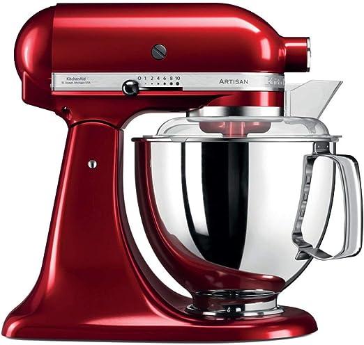 KitchenAid Artisan - Robot de cocina (Rojo, Acero inoxidable, 50 ...