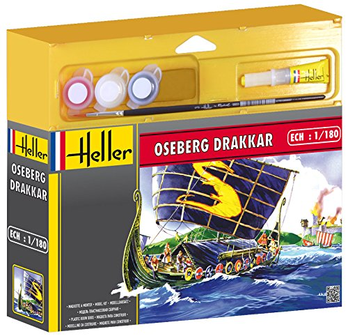 Heller Drakkar Viking Ship with Paint and Glue