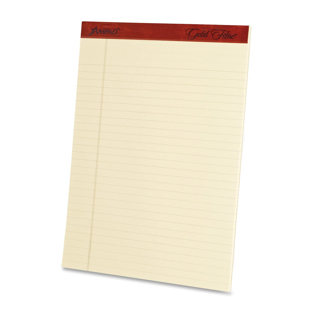50-Sheet Pad 8.5 x 11.75 Inches 4 Pads per Pack 20-011 Ivory Ampad Heavyweight Writing Pad