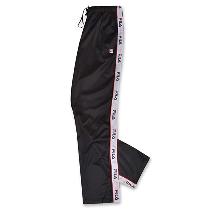 Fila Mens Big and Tall Track Pants with Logo Taping Down Legs ...