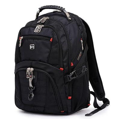 eec3ca4cfd41 swisswin リュックサック リュック 人気 メンズ レディース 大容量 黒 大学生 高校生 通学 おしゃれ 旅行バッグ