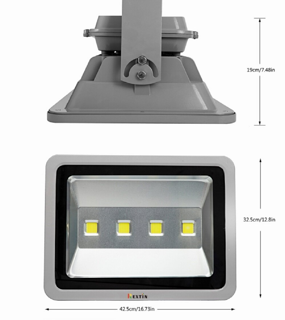Rextin Brightest High Power LED Flood Light 200W White Security Spot ...