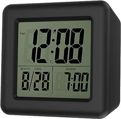 Moko Despertador Digital con Alarma, Alarma Reloj de Pantalla LCD ...
