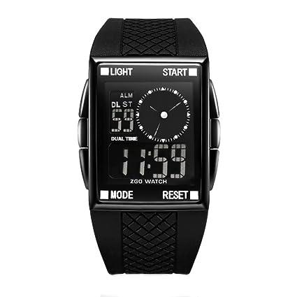 LE Relojes Digital para Hombre/Impermeable/Luminoso Trend Números Romanos Hombres y Mujeres Estudiante
