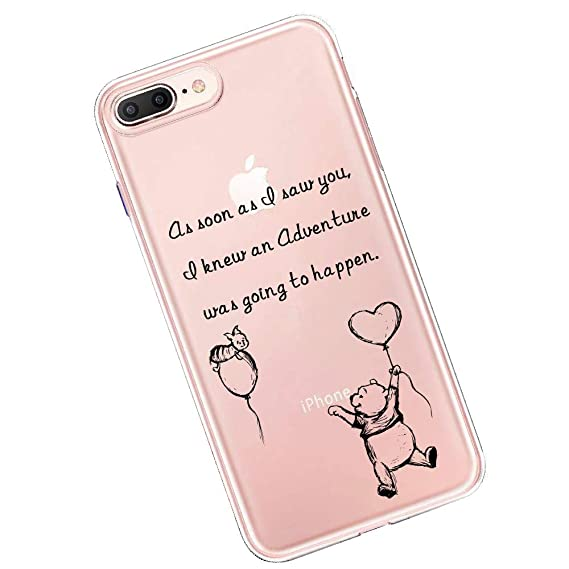 new concept ef392 8212e Winnie The Pooh Quotes Crystal Clear Shock Absorption Technology Bumper  Soft TPU Cover Case for iPhone 7 Plus iPhone 8 Plus case - Classic Pooh (as  ...