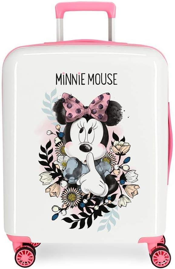 Maleta de cabina Minnie Style flores rígida 55cm