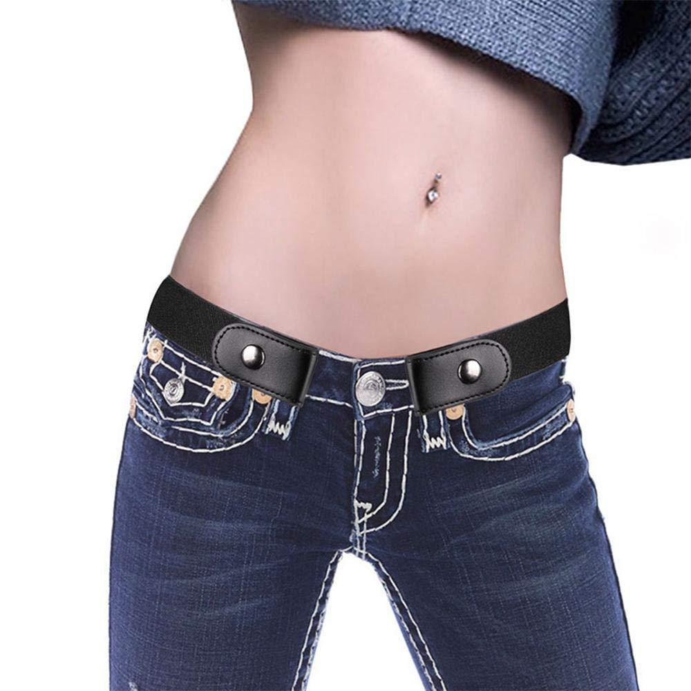 Womdee Cinturón elástico sin Hebillas para Mujer, cómodo cinturón elástico Invisible para Pantalones Vaqueros, Vestidos, sin Problemas con tamaño ...