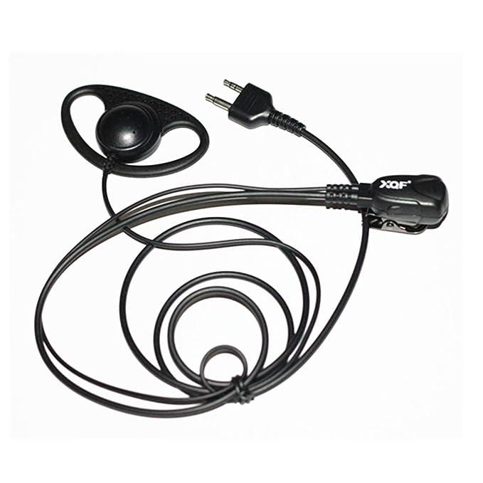 Caroo D shape Headset Earpiece for Midland LXT 600 560 535 500 490 460 440 etc.