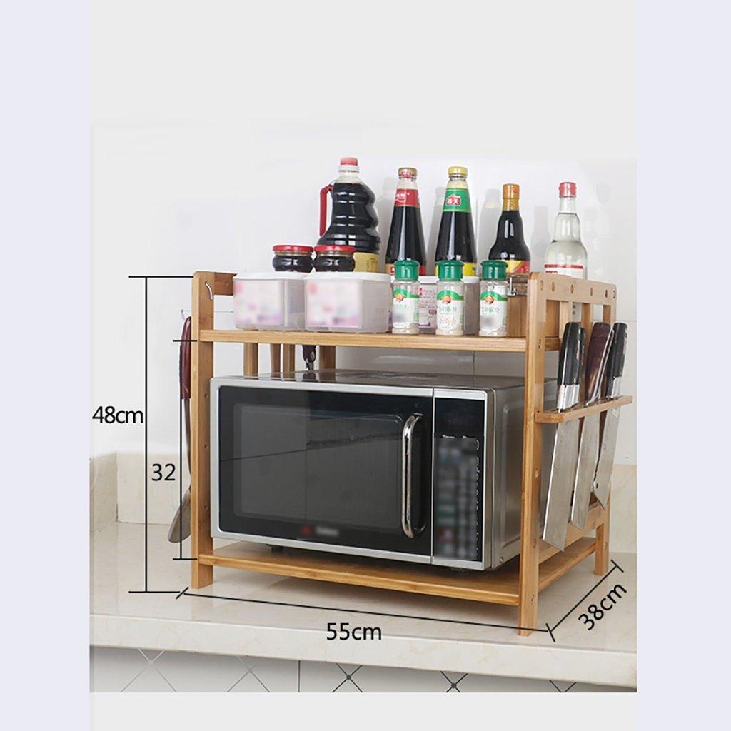 LXLAキッチン用品収納用ポットラック電子レンジ用シェルフオーブン用フレームフレーム2階建て2階建て2階建て木製(利用可能な55/59/68 * 48 * 38 cm) ( サイズ さいず : 78.5cm ) B07BGYBZJ2 78.5cm 78.5cm
