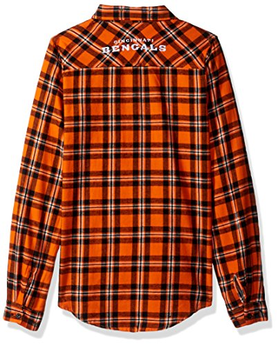 Forever Collectibles Damen 2016Wordmark Basic Flannel, Cincinnati Bengals, klein