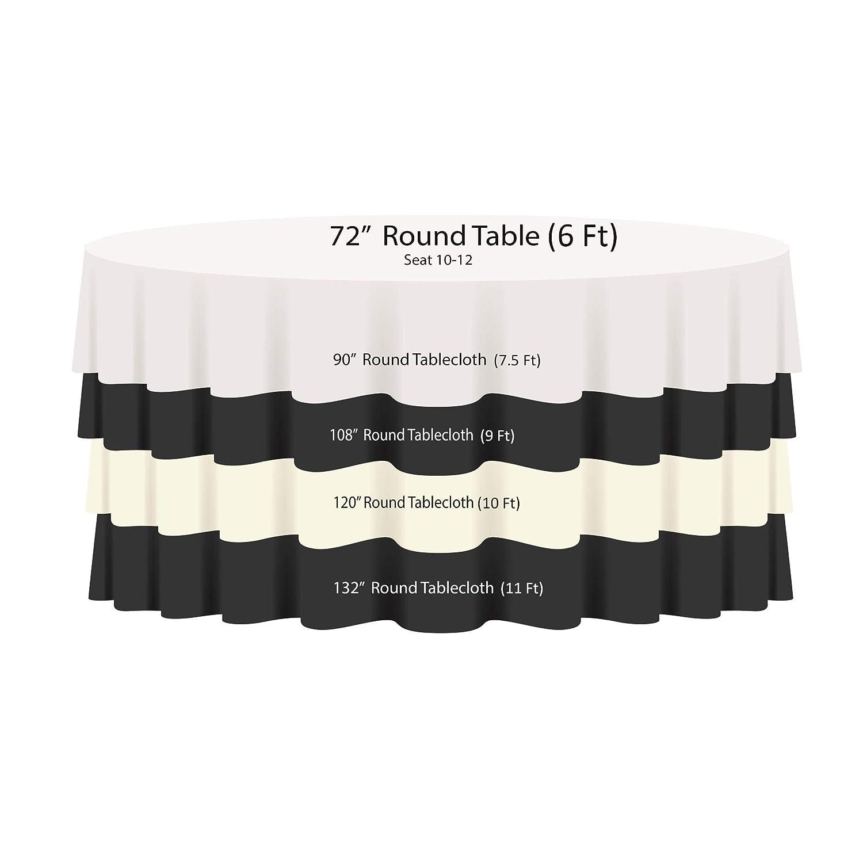 en Set de 1,5 Trimming Shop 177,8-304,8 cm Rond Blanc tiss/é Damas Nappe avec Un Rev/êtement Branche Motif De Tourbillon 70 inches 10-1 pi/èce