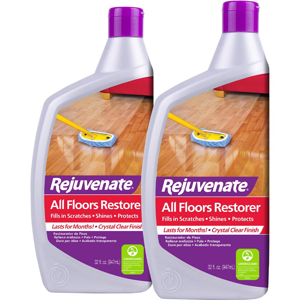 Rejuvenate All Floors Restorer Fills in Scratches Protects & Restores Shine No Sanding Required (32oz x 2 Pack)