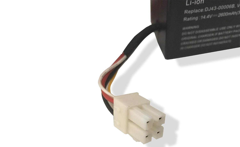 Batteria Li-Ion 2600mAh per aspirapolvere Samsung Navibot SR8940 VCA-RBT30 SR8980 VCR8940 sostituisce: DJ43-00006B SR8981 14.4V SR8950