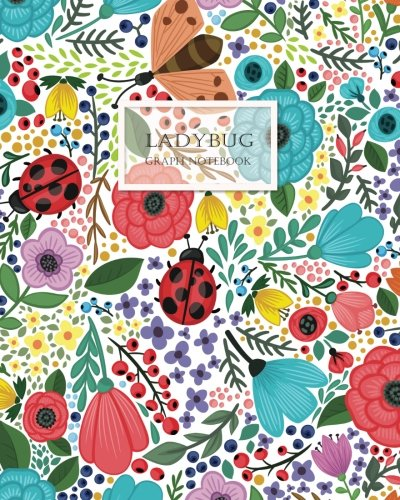 LADYBUG Graph Notebook: 120 pages Cream Paper Large 8