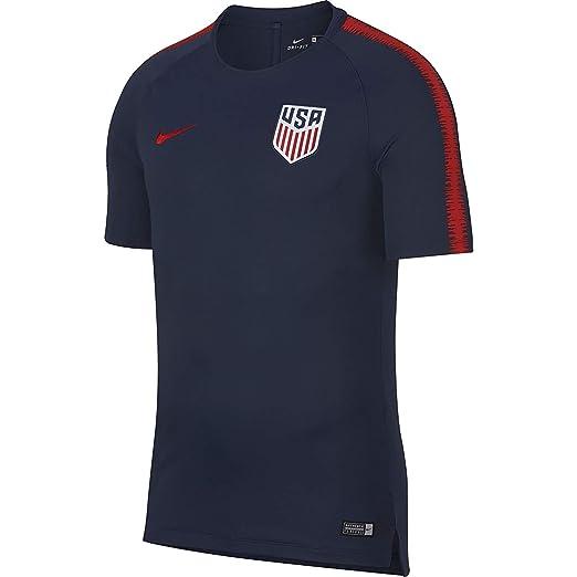 af167fc97 Nike Men s Breathe USA Squad SS Shirt Midnight Navy University Red Size  Medium