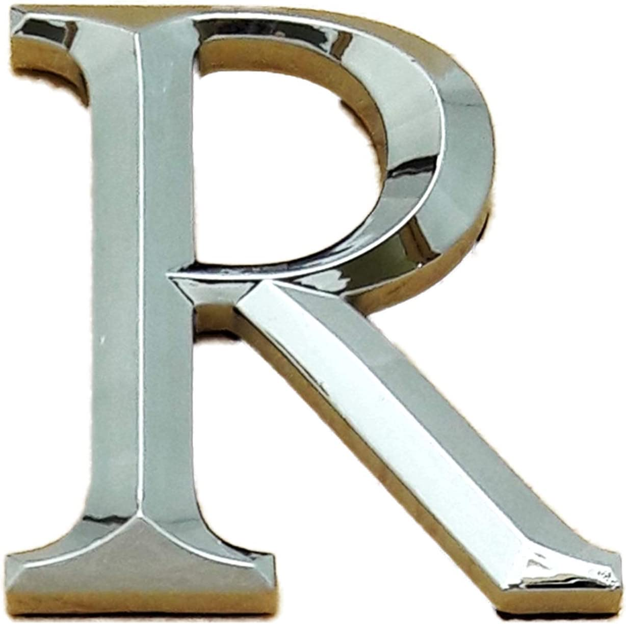Self Adhesive Chrome Letters Silver Car Door Name 3D Times Roman Height 5CM L