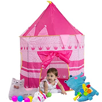 Amazon.com Loisleila Portable Foldable Play Tent Prince Folding Tent Kids Children Boy Castle Cubby Play House Kids Gifts Outdoor Toy Tents(Pink) Home u0026 ...  sc 1 st  Amazon.com & Amazon.com: Loisleila Portable Foldable Play Tent Prince Folding ...