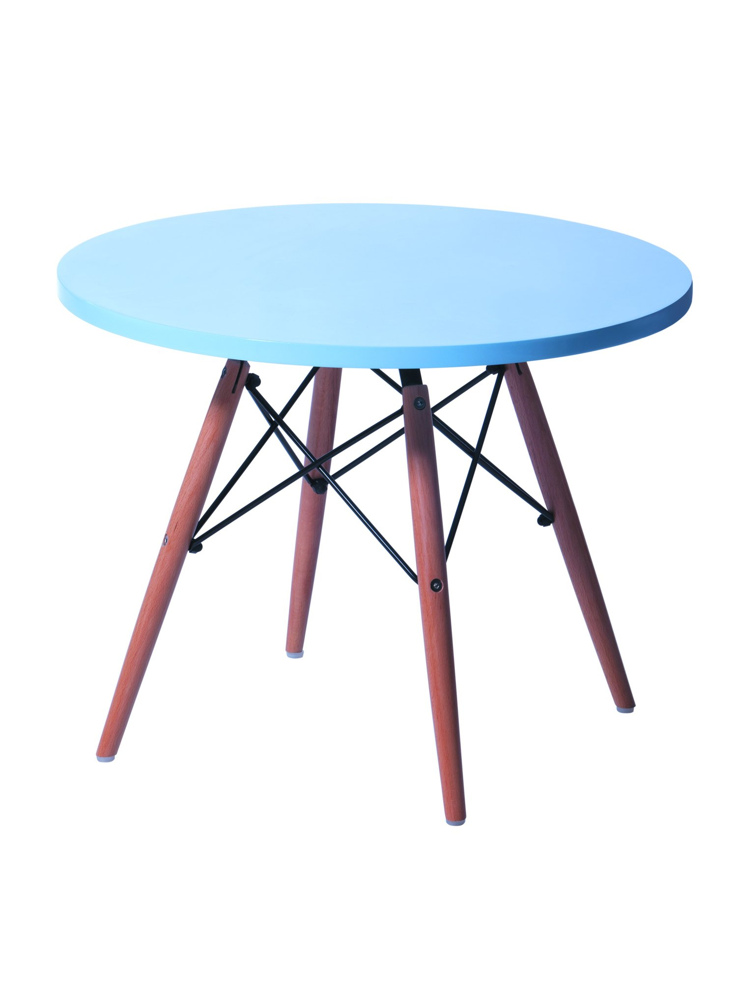 CSP Events KPWT-500-BL Eame style kids Table Black, 18.5'' Height, 24'' Width, 24'' Length, Blue