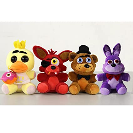 Five Nights At Freddys 4 Kawaii Fnaf World Freddy Fazbear Bear Foxy Bonnie Chica Plush Stuffed