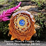 Glowing Crushed Lapis with Seed of Life + Om Third Eye Pinecone Pendant