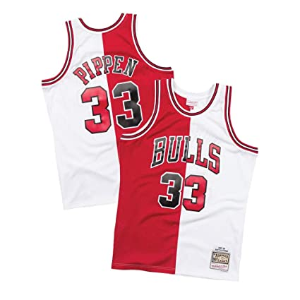 bf5315aef193 Mitchell   Ness NBA Chicago Bulls 1997-98 Scottie Pippen Split Home   Away  Swingman