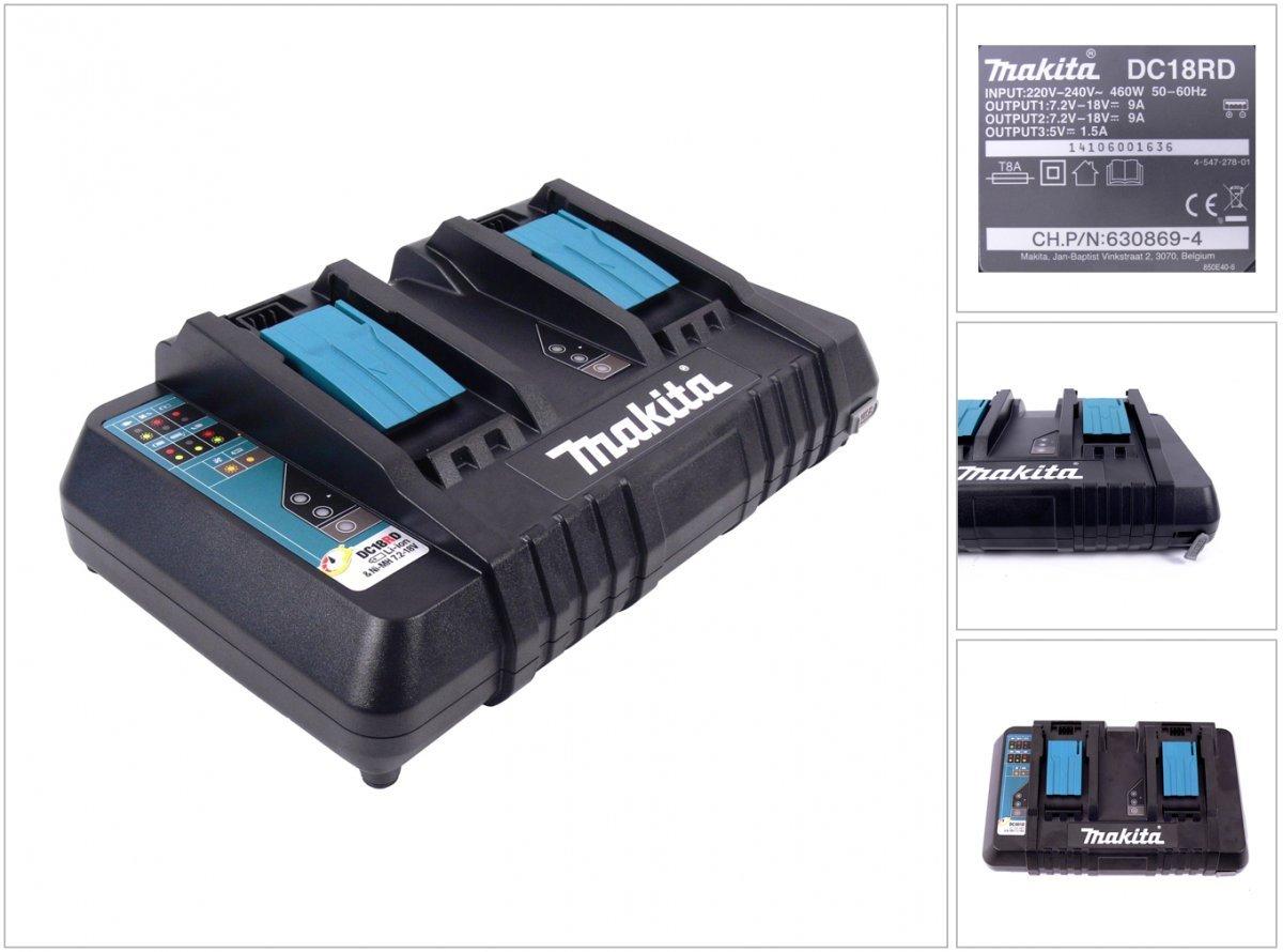 Cargador de doble para Makita Tipo BL1840 Original, 9,6 V de 18 V ...
