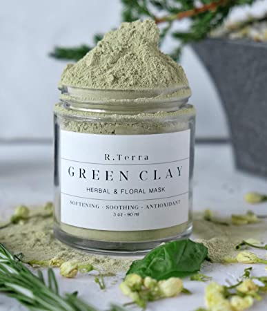 Amazon com : Clay Mask - Detox Clay -Enriched Herbal