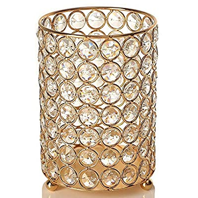 VINCIGANT Gold Cylinder Candle Holders