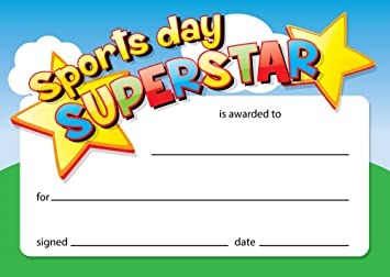 sports certificates for kids