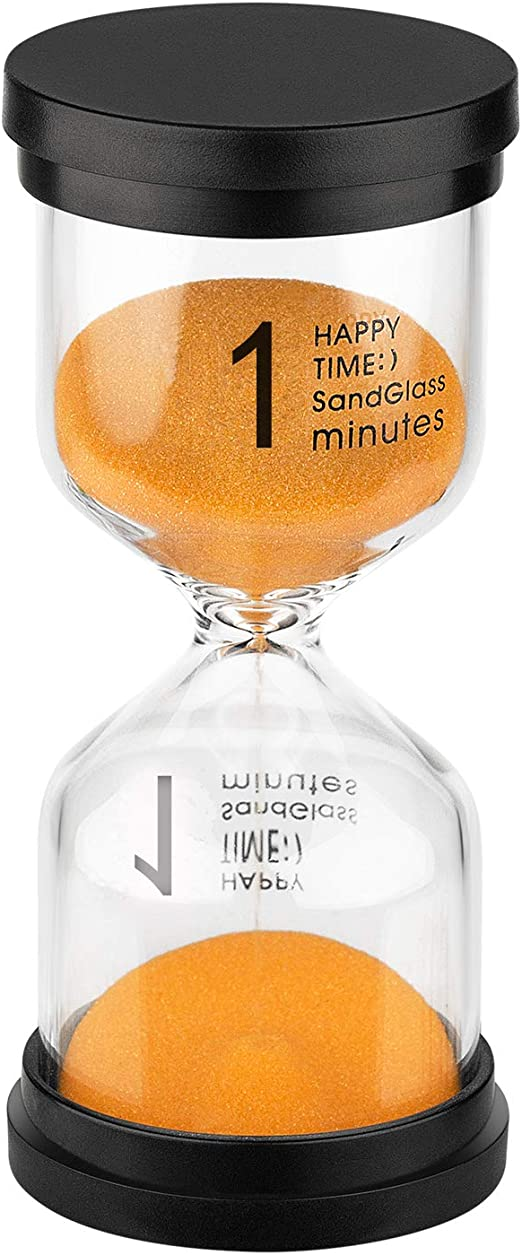 KSMA Sand Timer 3 Minute Hourglass Timer,Colorful Sandglass Timer for Kids,Classroom,Kitchen,Games,Toothbrush Timer