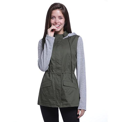 Wangyue - Chaqueta - para mujer verde verde Medium