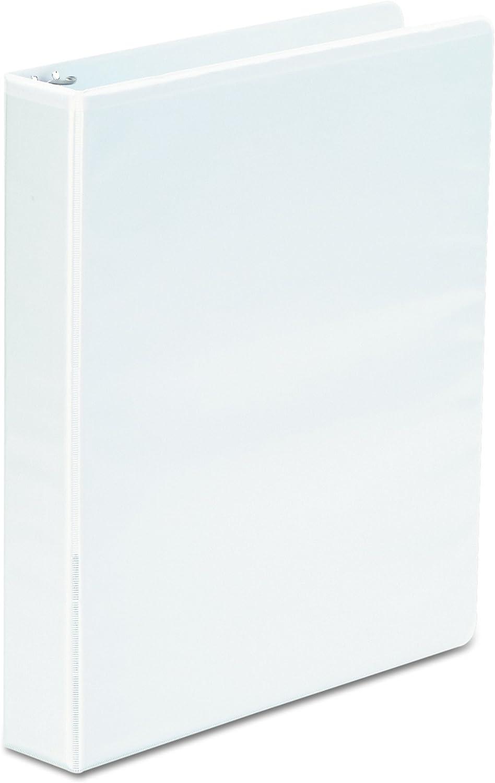 """1-1//2/"""" White Universal Round Ring 6 Pack Economy View Binder"""
