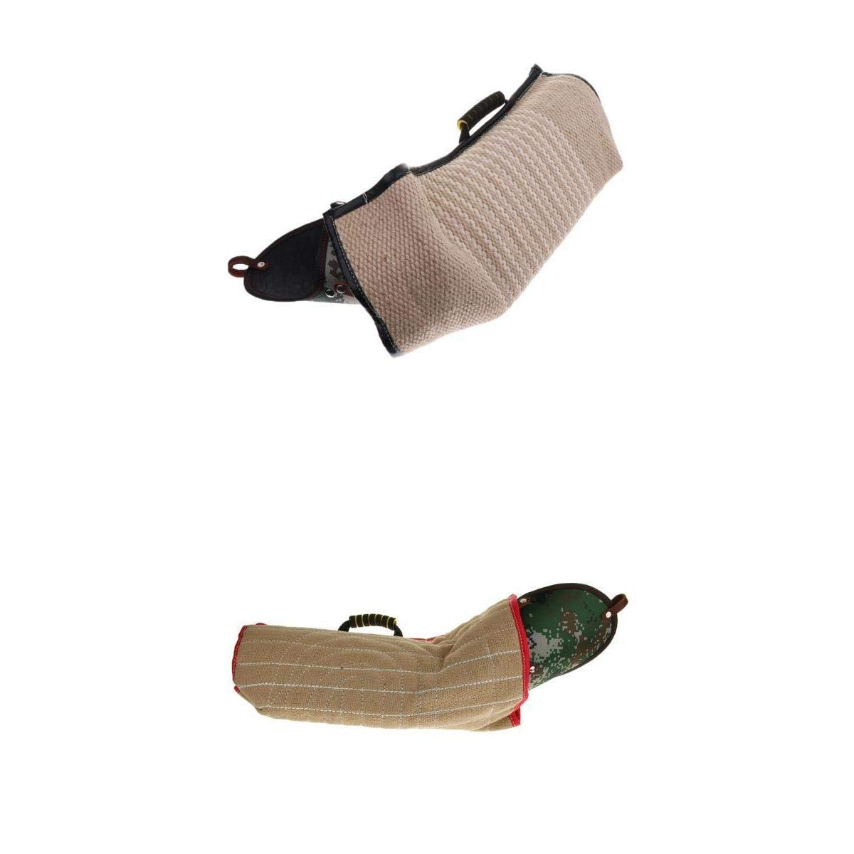 joyMerit 2 x Dog Bite Sleeves Tugs for Young Dogs Work Dog Puppy Training Playing, Fit Professional Intermediate for Both Left and Right Hand by joyMerit