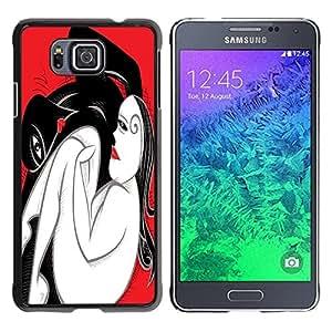 Dragon Case - FOR Samsung ALPHA G850 - Crouching woman - Caja protectora de pl??stico duro de la cubierta Dise?¡Ào Slim Fit