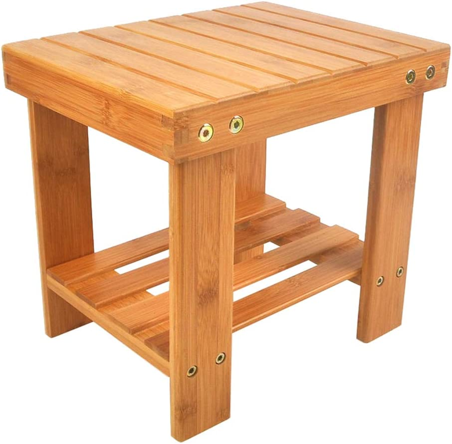 Living Room Natural Bamboo Foot Stool With Storage Shelf Bedroom Moth Bamboo Step Stool For Kids Multfunctional Anti Slip Lightweight Chairs Seat For Bathroom Laundry Room Or Garden Step Stools Kids Furniture Biquinismaranata Com Br