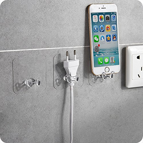 Gotian 2pc Wall Storage Hook Power Plug Socket Holder - Wall Adhesive Hanger Home Office - Storage Rack Kitchen Tool ,Make The Room The Kitchen More Tidy