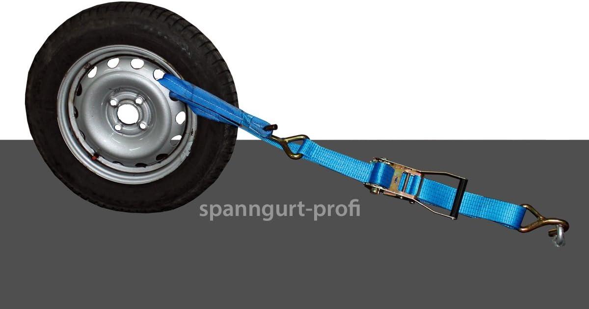 Spanngurt Auto Transport 50mm Zurrgurt 5t Radsicherung Seitliche Radverzurrung Reifengurt 6 Auto