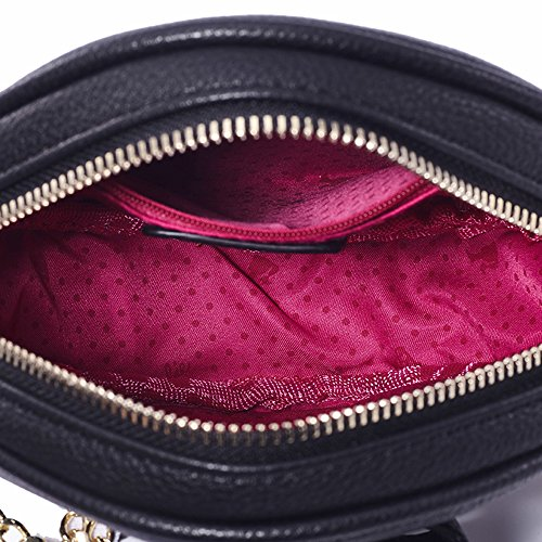 BBFB288 la PU de Bandoulière à Noir pour Mignon série Epaule Main Porté Mode à en Ronde Femmes Noir Moderne Barbie Sac Filles Elegant Shopping q1wFRW8v