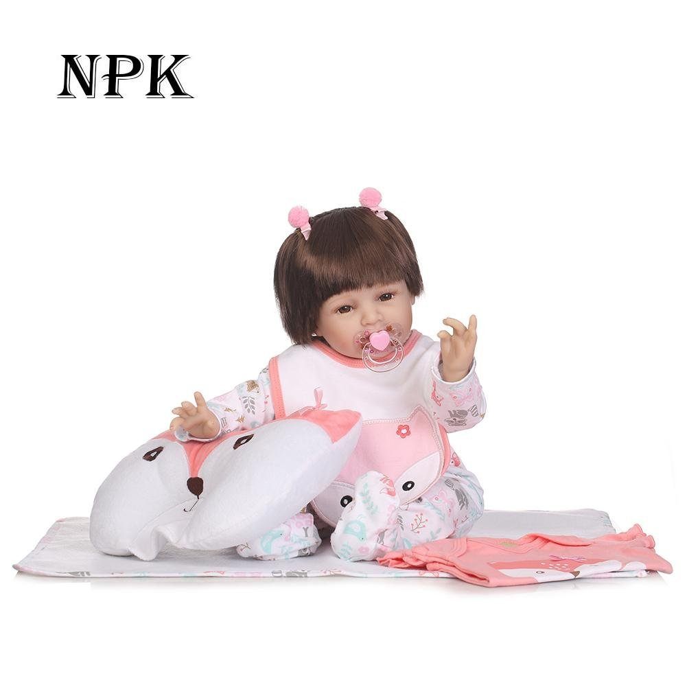 chinatera Kids Toys NPK 3D Cute Artificial Realistic Reborn Baby Doll Soft Silicone Cloth Dolls Kids Playmate by chinatera (Image #2)