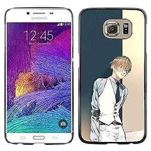 Be Good Phone Accessory // Dura Cáscara cubierta Protectora Caso Carcasa Funda de Protección para Samsung Galaxy S6 SM-G920 // Anime Guy Tux Vest Fashion Cartoon