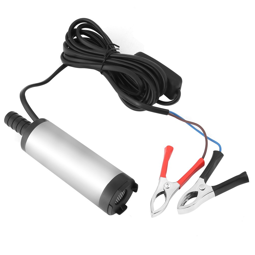 12V 3.8cm Submersible Diesel Fuel Water Oil Transfer Drum Pump Mini Refueling Sub 8500r/m Hilitand