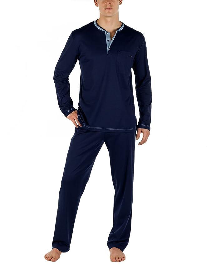 Calida Pyjama Chill Out - Pijama Hombre, Azul (Dark Blue 449), XX-Large: Amazon.es: Ropa y accesorios