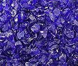Fire Pit Glass Rocks, ~3/8-1/2″ COBALT BLUE, 40 LBS For Sale