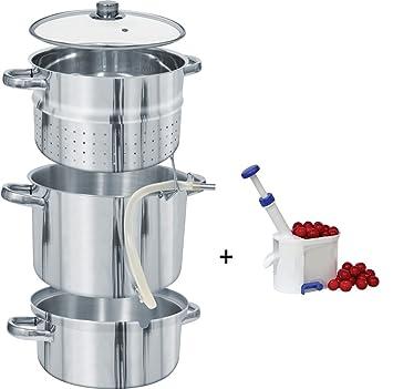 Dampfentsafter 8 L Induktion ENTSAFTER Saftpresse EDELSTAHL Obst ENTKERNER