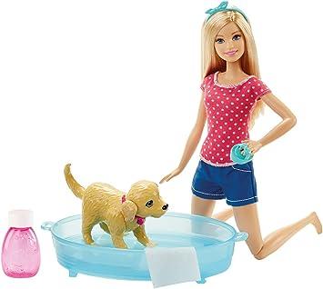 Barbie Dgy83 Son Chien Heure Du Bain