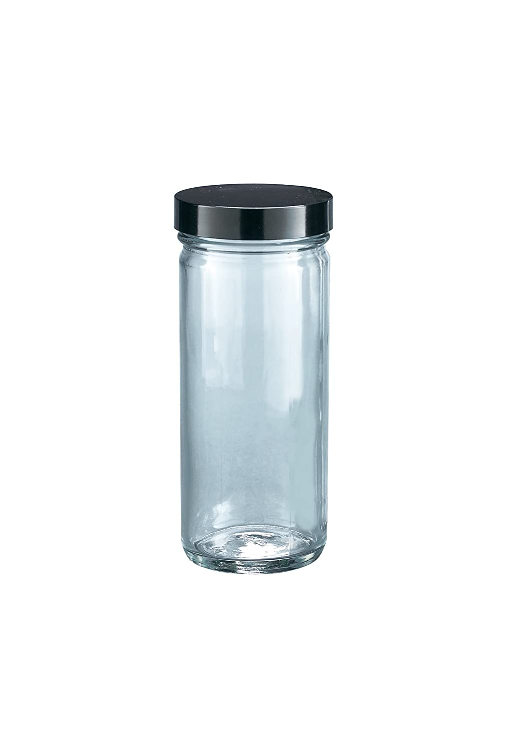 Case of 24 Kimble Type III Soda-Lime Glass Clear Straight-Sided Tall Jars without Cap Capacity 8oz
