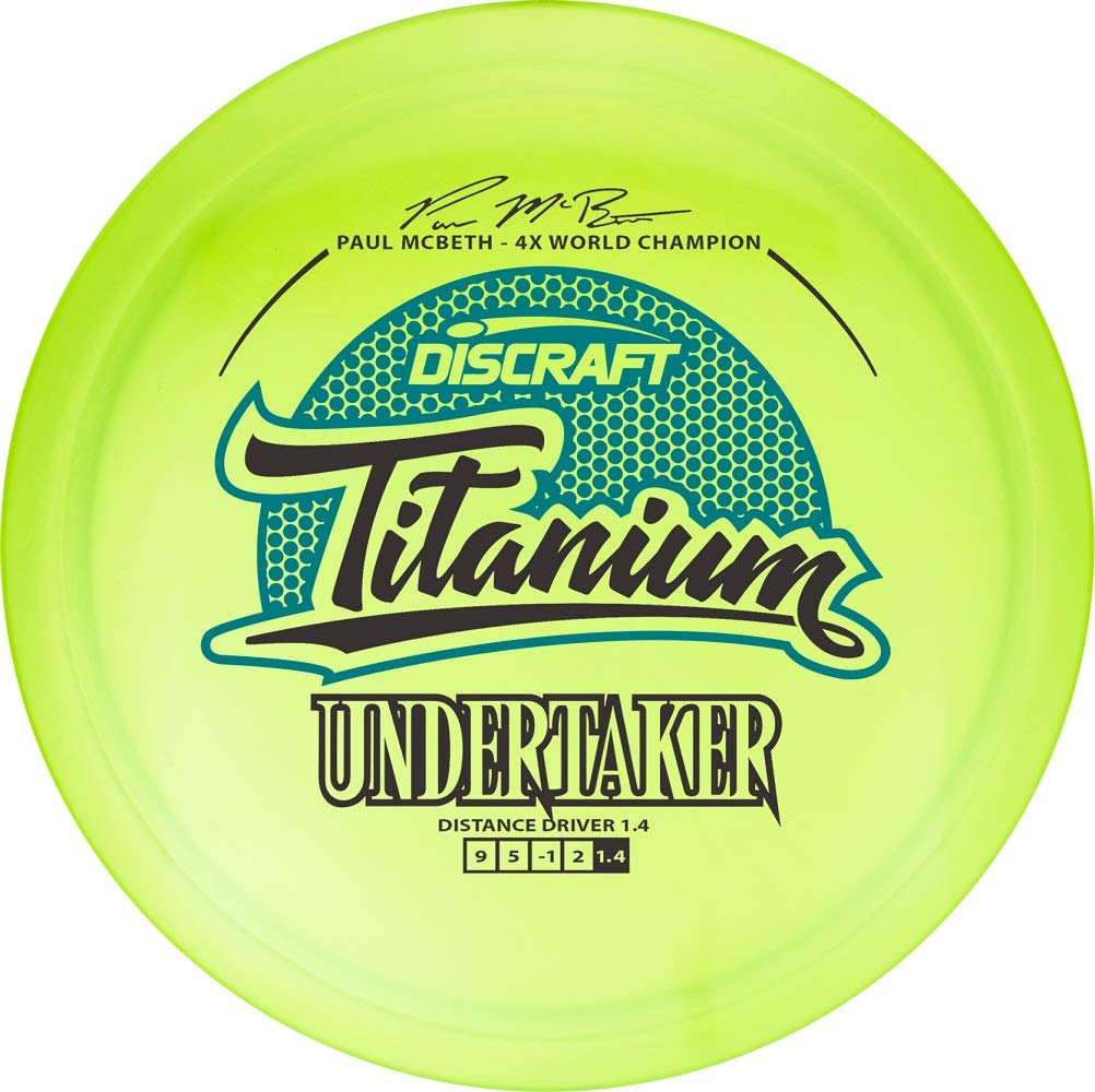 Discraft Paul McBeth Signature Titanium Undertaker Distance Driver Golf Disc [Colors May Vary] - 160-166g