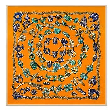 c7d960ae653 AHUIOPL 100% Soie Carrée Femmes De Luxe Imprimer Foulards   Wrap Marque Hijab  Foulard Soie