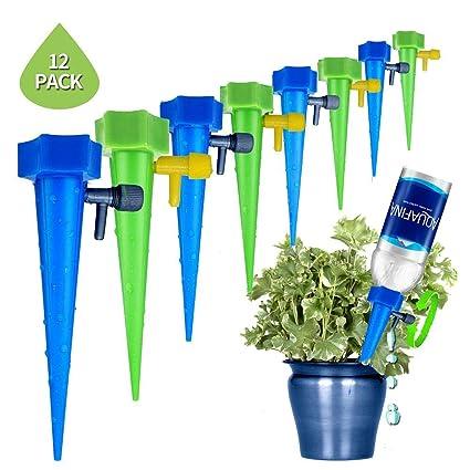 Hamakw Sistema Di Irrigazione A Goccia Set Di 12 Pcs Giardino Gocciolante Gocciolatore Cono Versatore Per Irrigazione Automatica Vasi Per Piante In