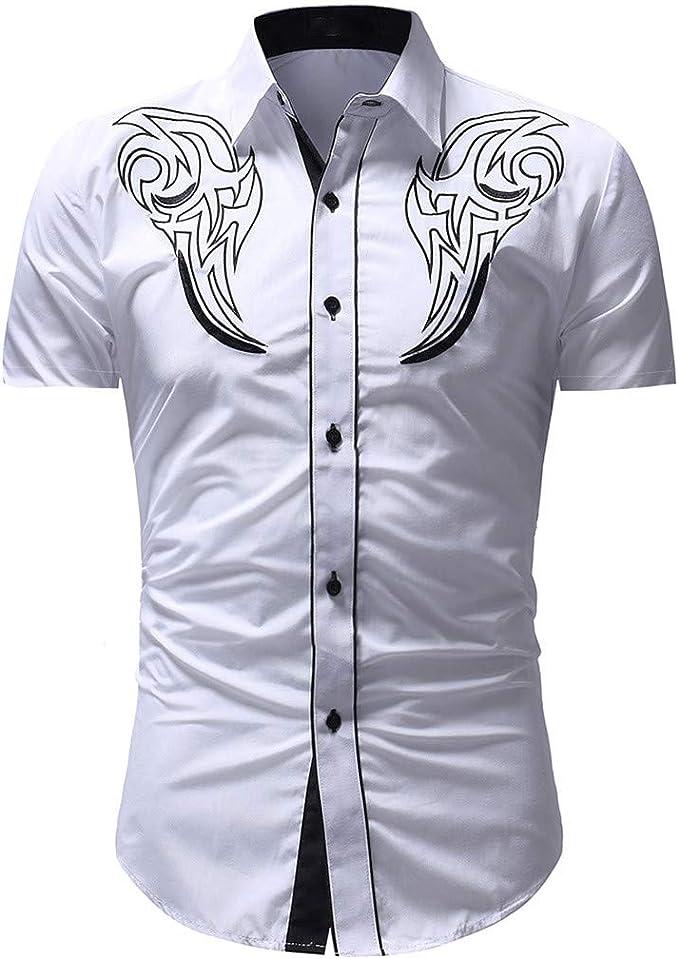 Culater La camisa Camisa Casual De Manga Corta Estampada para Hombre.: Amazon.es: Ropa y accesorios